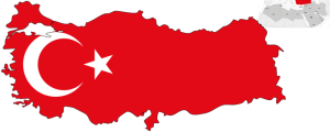 Turkey map, flag, and location