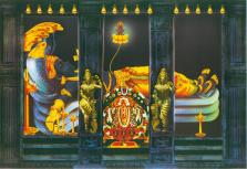 Artist's impression of deity at Padmanabhaswamy Temple