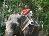Elephant ride in Thekkady