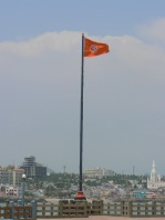 Flag on Vivekananda Rock Memorial island