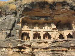 Gopachal Parvat - carvings of Jain tirthankaras