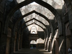 Inside the Hindola Mahal