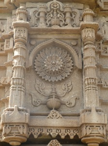 Decoration on walls of Jama Masjid, Champaner