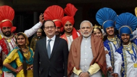 Hollande in India, R-Day 2016