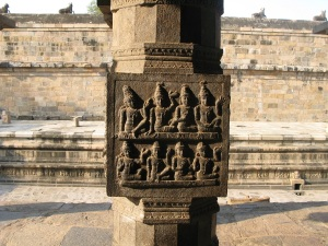 Bas relief on pillars