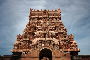 Gopuram at Brihadeshwara entrance