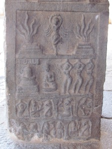 Relief on pillar, Darasuram