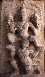 Reliefs on pillars 10, Srirangam