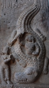 Reliefs on pillars 7, Srirangam