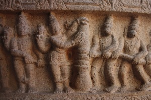Reliefs on pillars 8, Srirangam