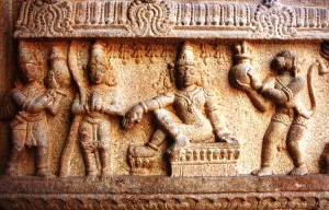 Reliefs on pillars 9, Srirangam