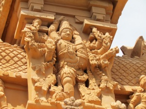 Sculptures on entrance gopuram 1, Brihadeshwara