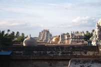 Srirangam gopura from roof 3