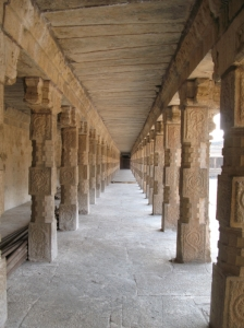 View down one of the prakaras